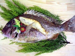 画像1: 鯛の浜焼き(約1.2kg)
